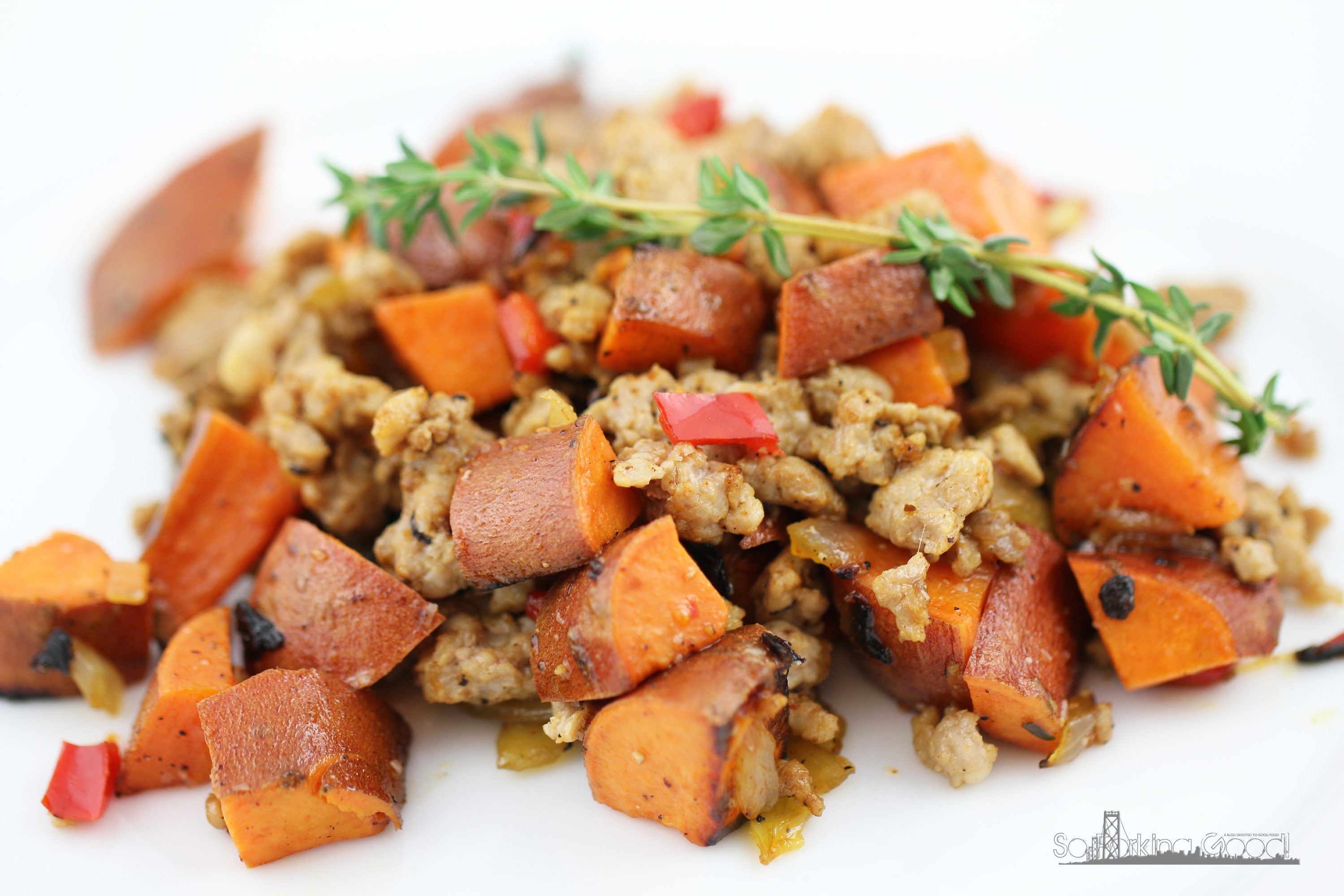 Turkey and Sweet Potato Hash by So Forking Good! | Epicurious ...